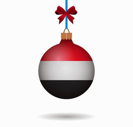 yemen: isolated christmas ball yemen Illustration
