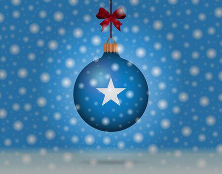 palle di neve: neve e palla di neve con la bandiera della Somalia Vettoriali