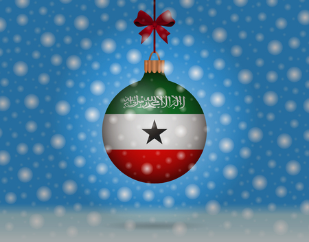 snowfall and snowball with flag of somaliland Illustration