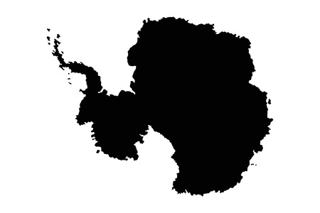 antarctic: Map antarctic silhouette