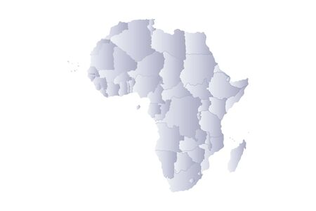 country nigeria: Map africa in gray