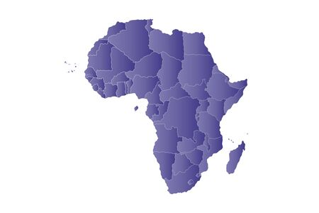 gambia: map africa in violet