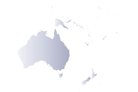 oceania: Map oceania gray Illustration