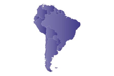 map bolivia: Mapa violeta América del Sur