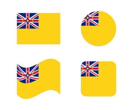 niue: set 4 flags of niue