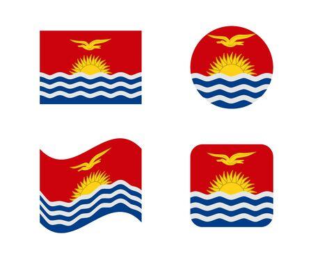 set 4 flags of kiribati