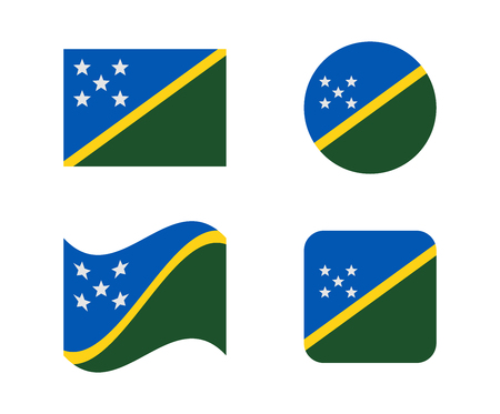 Set 4 flags of Solomon islands