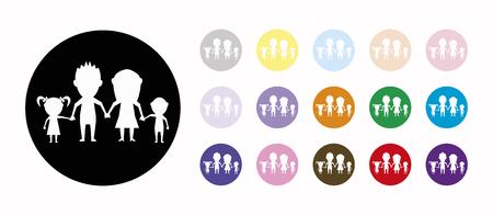 dolls happy family set icons
