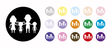 dolls family together set icons