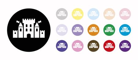 fantasy castle set icons