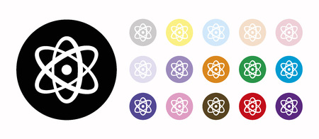 atomic symbol: science set icons