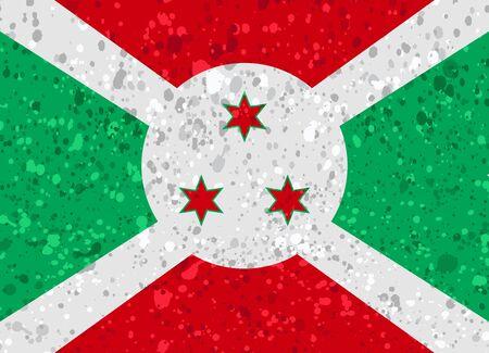 burundi flag grunge illustration Illustration