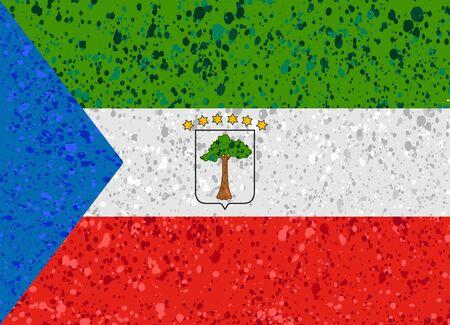 equatorial guinea flag grunge illustration