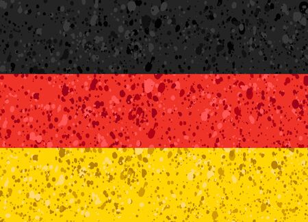 Germany flag grunge illustration Illustration