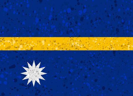 Nauru flag grunge illustration