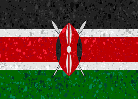 kenya: Kenya flag grunge illustration Illustration