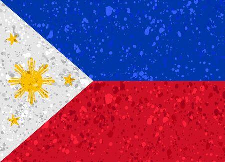 Philippines flag grunge illustration Illustration