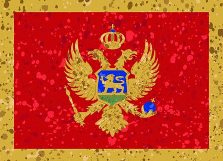 Montenegro flag grunge illustration