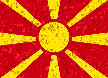 macedonia flag grunge illustration Illustration