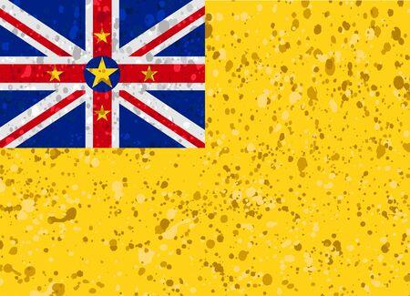 niue: niue flag grunge illustration