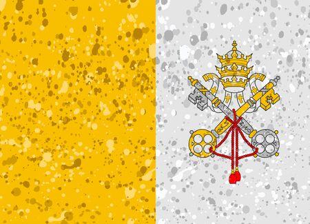 vatican city flag grunge illustration