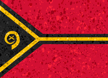 vanuatu: Vanuatu flag grunge illustration