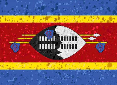 Swaziland flag grunge illustration