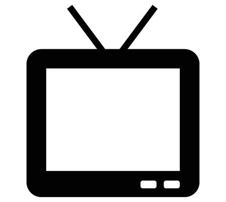 tv black icon vector
