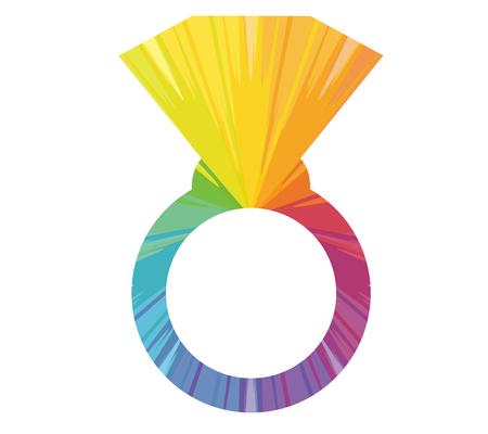 Anneau abstrait multicolore icône Banque d'images - 85540048