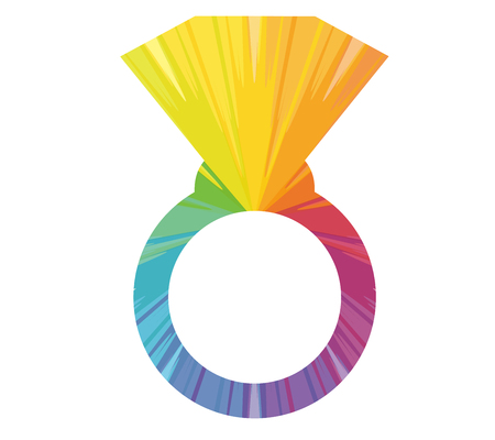 ring multicolored abstract icon
