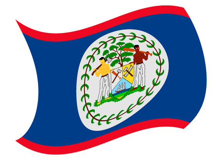 belize flag moved by the wind