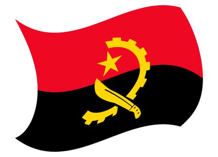 angola flag moved by the wind