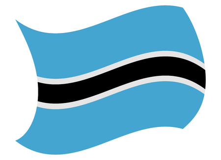 botswana flag moved by the wind Illustration