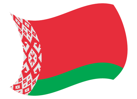 belarus flag moved by the wind