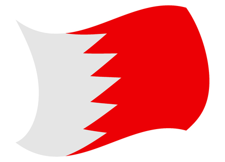 bahrain flag moved by the wind