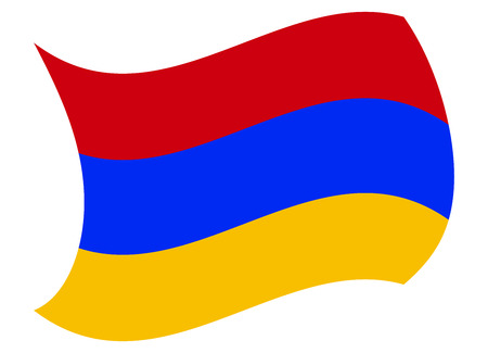 armenia flag moved by the wind Illustration