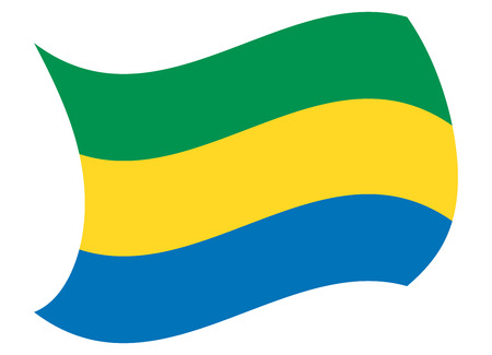 gabon flag moved by the wind