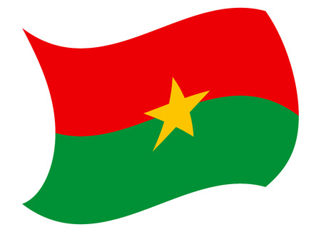 burkina flag moved by the wind