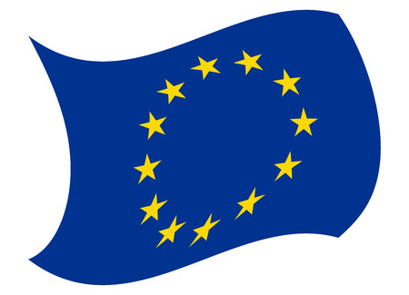 european union flag moved by the wind
