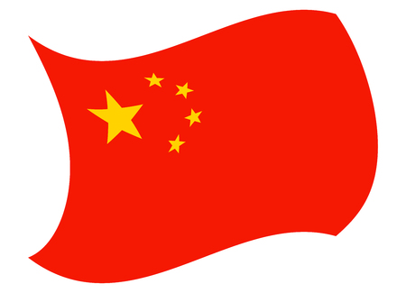 china flag moved by the wind
