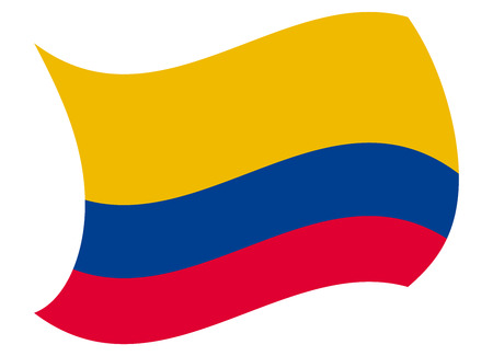 colombia flag moved by the wind Illustration