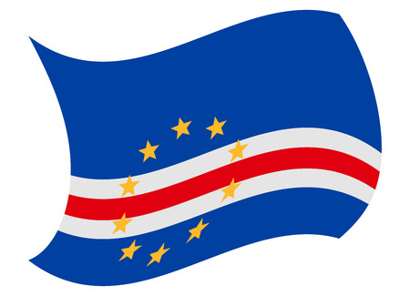 cape verde flag moved by the wind