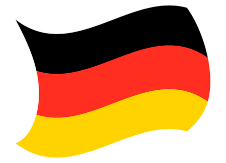 germany flag moved by the wind