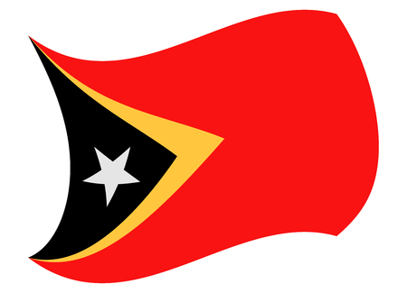 east timor flag moved by the wind