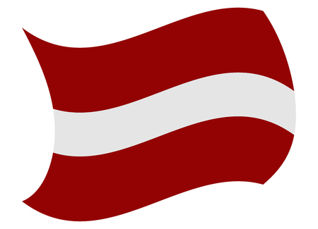 latvia flag moved by the wind Illustration