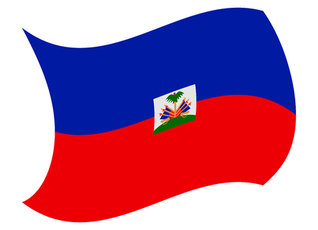 haiti flag moved by the wind Illustration