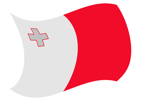 malta flag moved by the wind