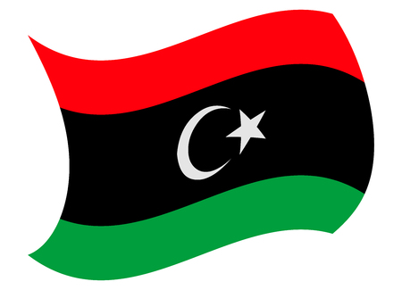 libya flag moved by the wind