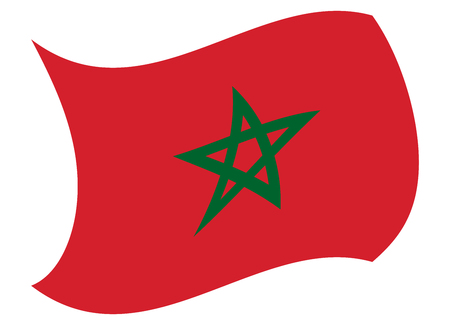 morocco flag moved by the wind