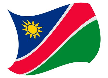 namibia flag moved by the wind